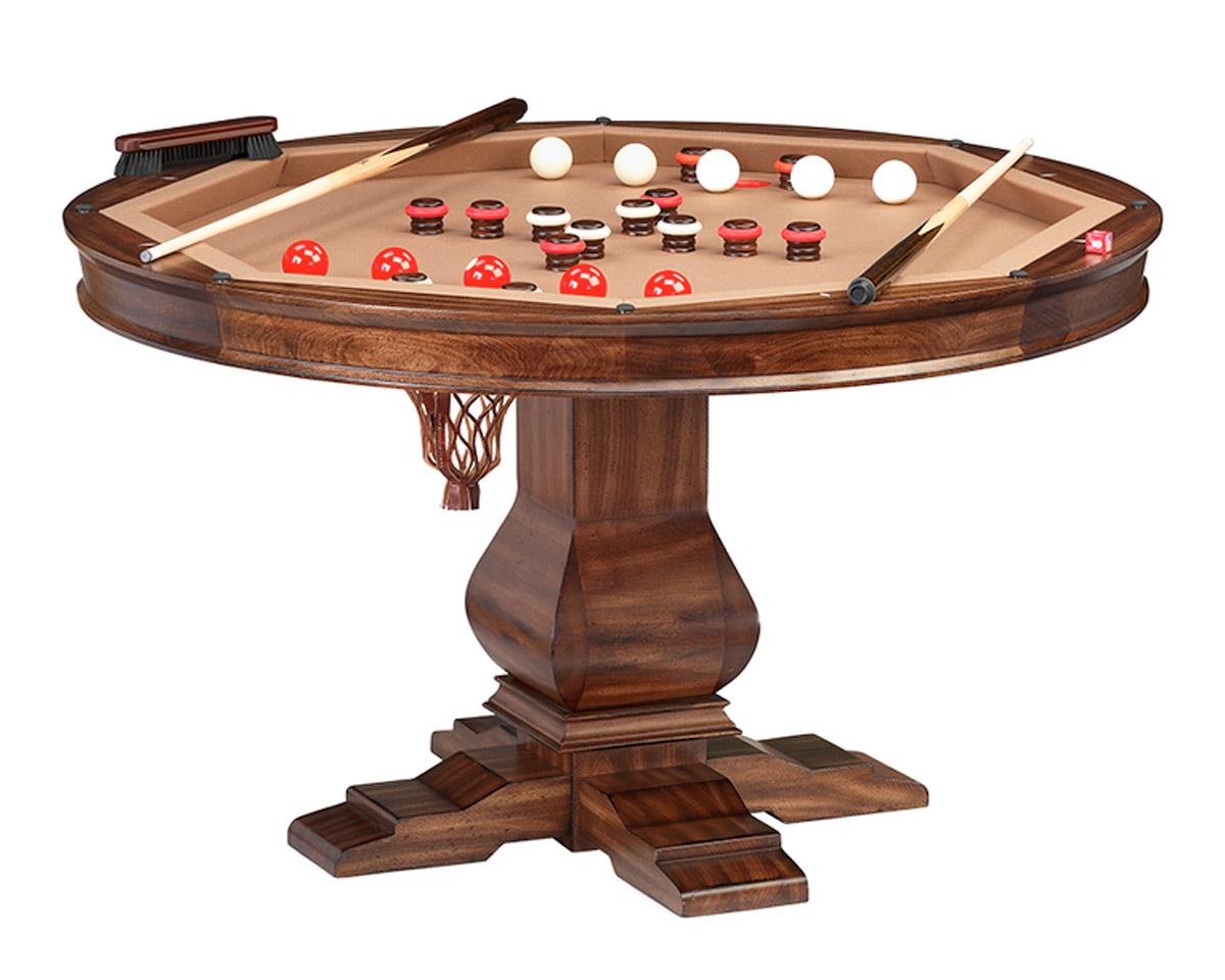 Amerigo Poker Dining Table w/ Bumper Pool Game Tables