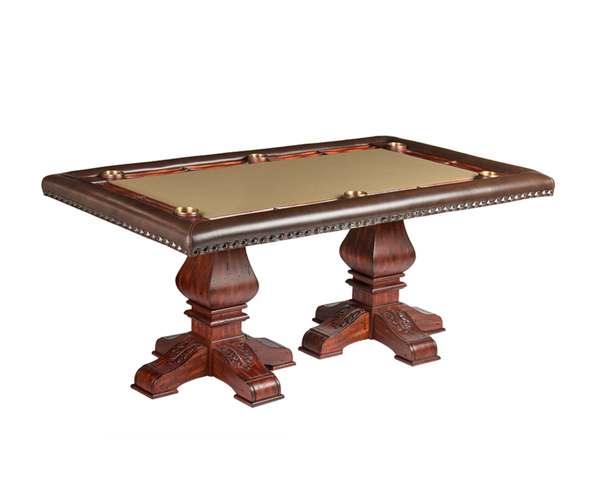 Barcelona Poker Table w/ Optional 2-Piece Dining Top Game Tables