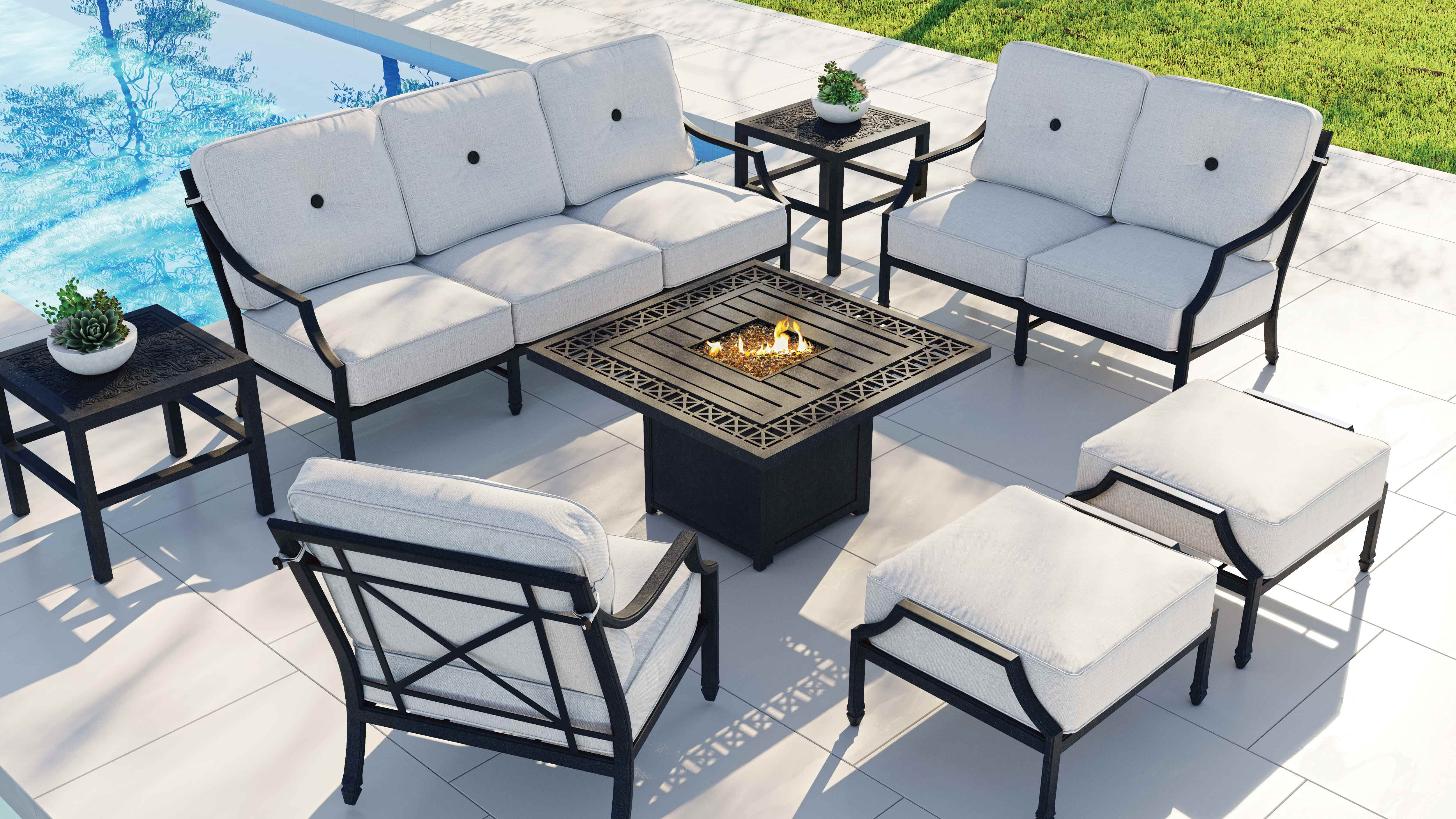 Lancaster Outdoor Furniture Collection Deep Seating