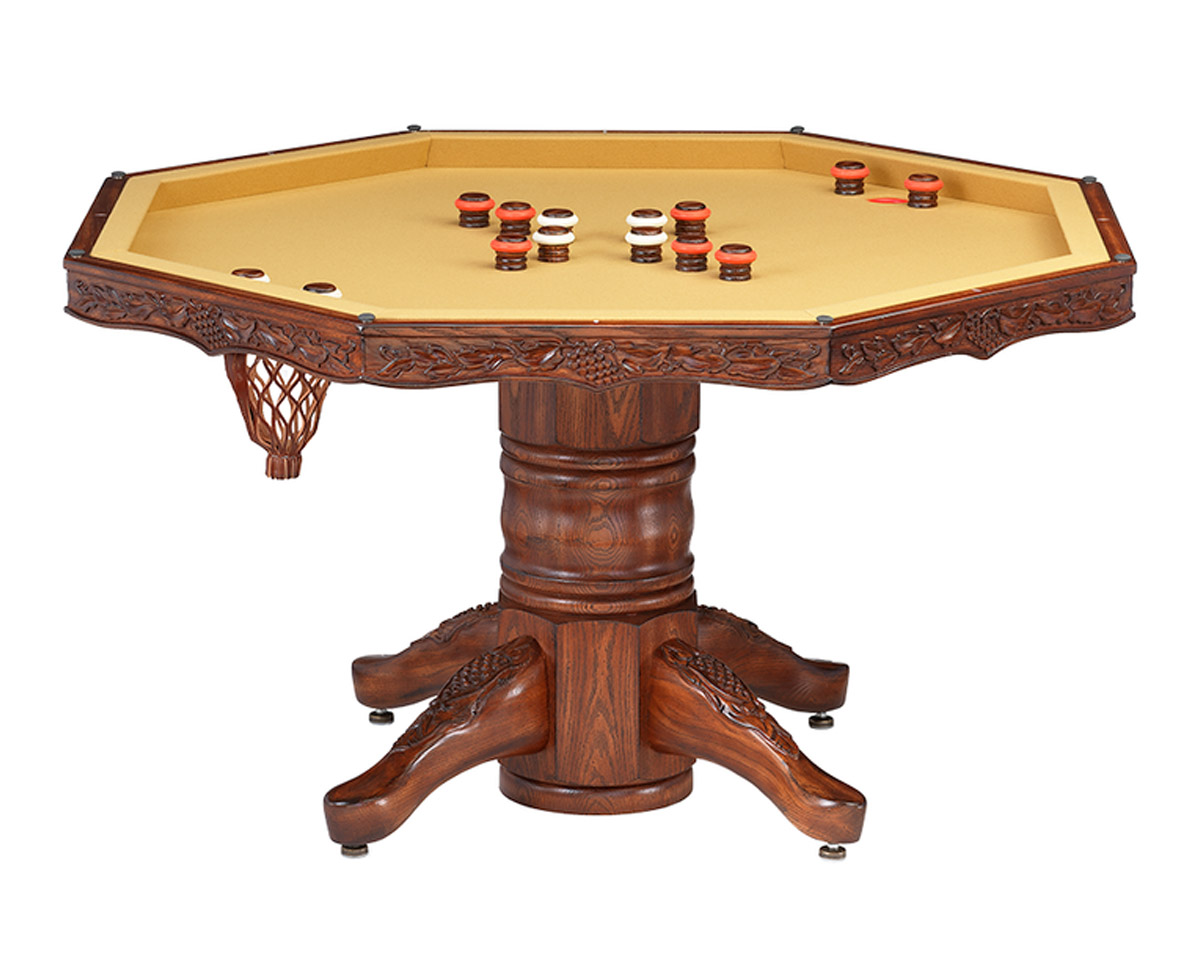 Chateau Poker Dining Table w/ Bumper Pool Game Tables