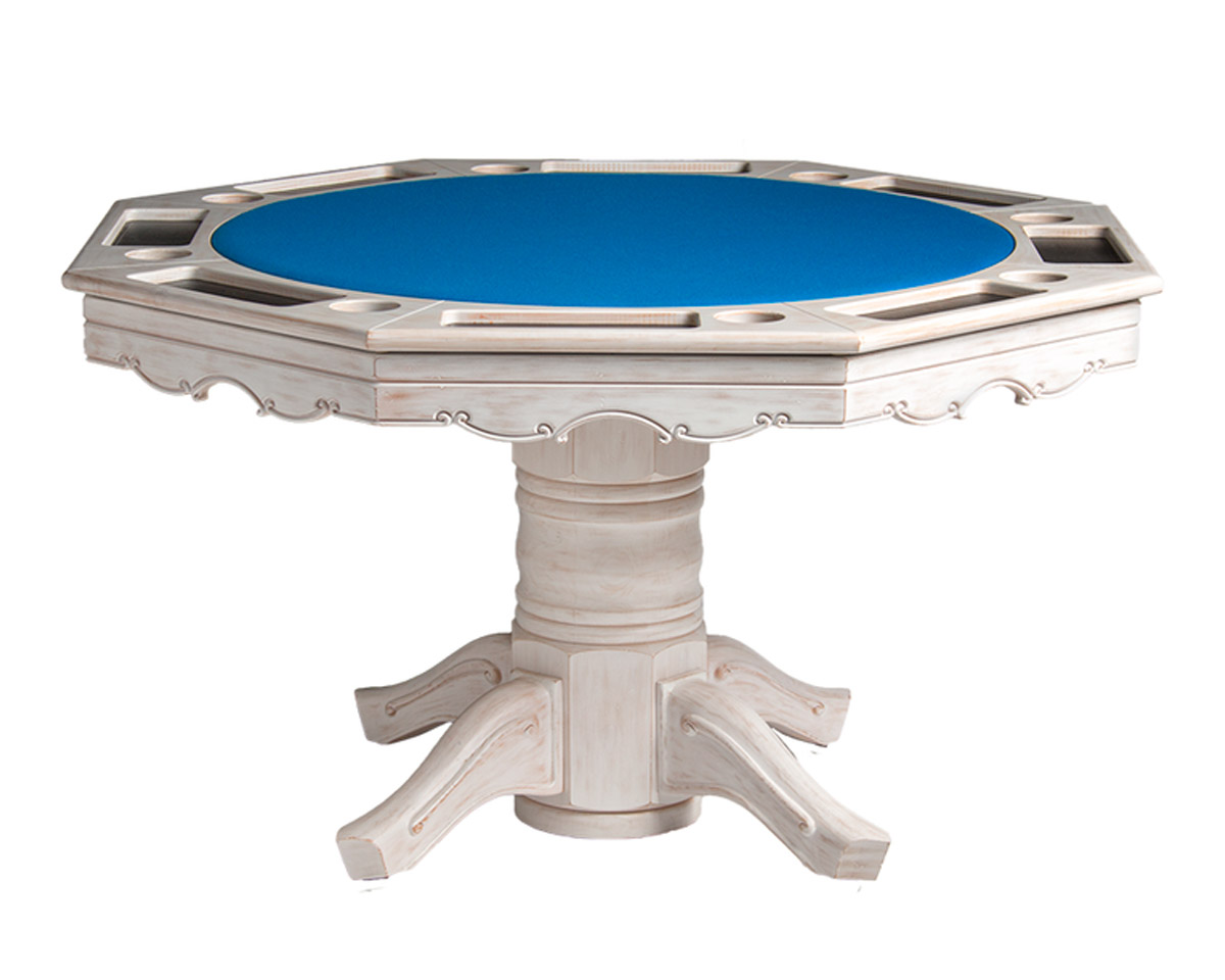 Classic Poker Dining Table w/ Bumper Pool Game Tables