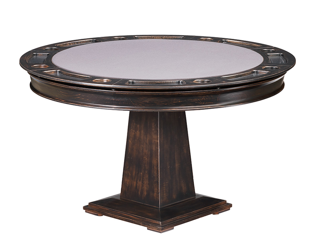 Dynasty Poker Dining Table w/ Bumper Pool Game Tables