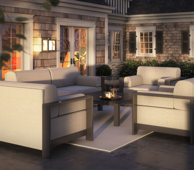 Grace Modern Outdoor Patio Collection Deep Seating