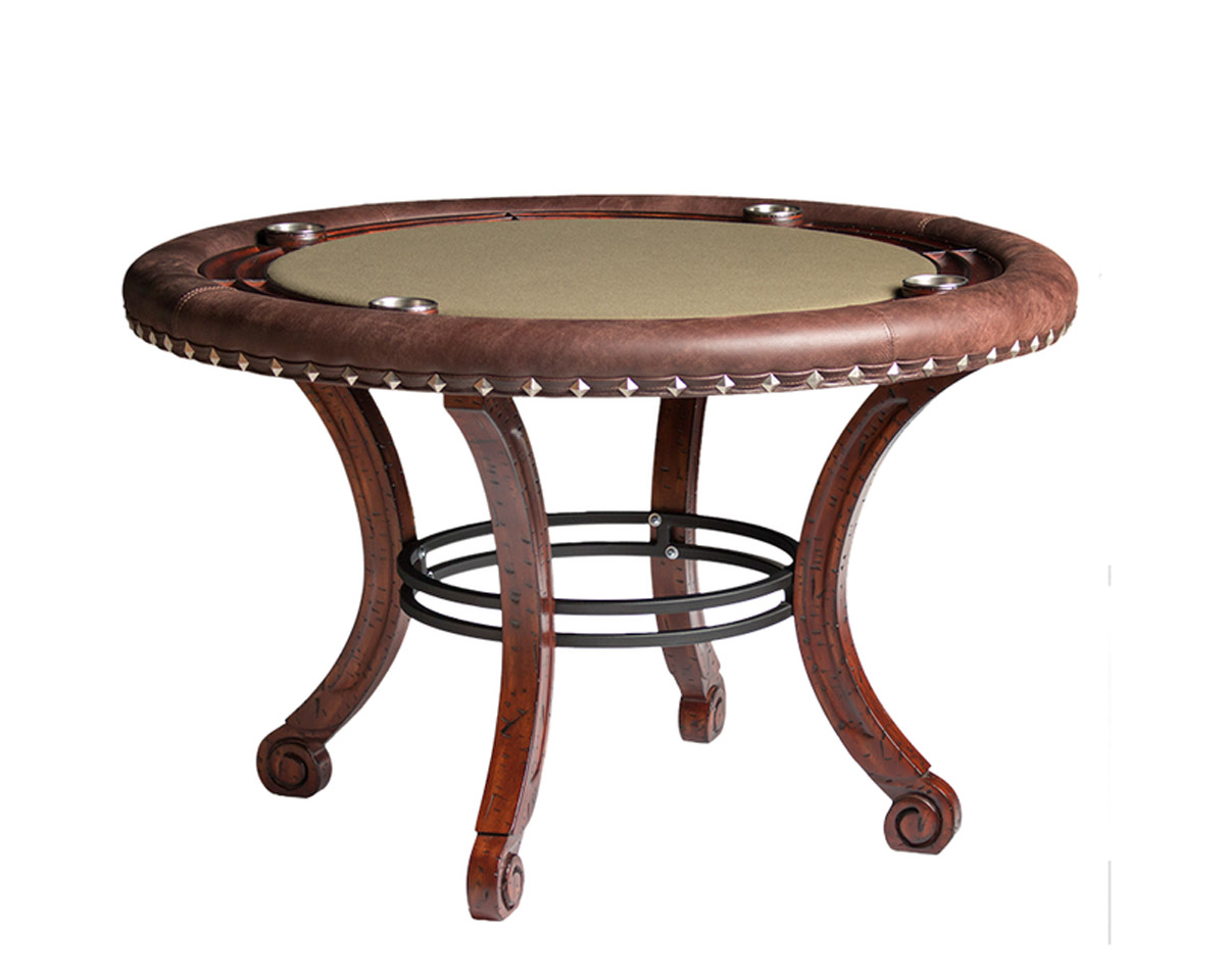 Madrid Poker Table w/ Optional Dining Top Game Tables