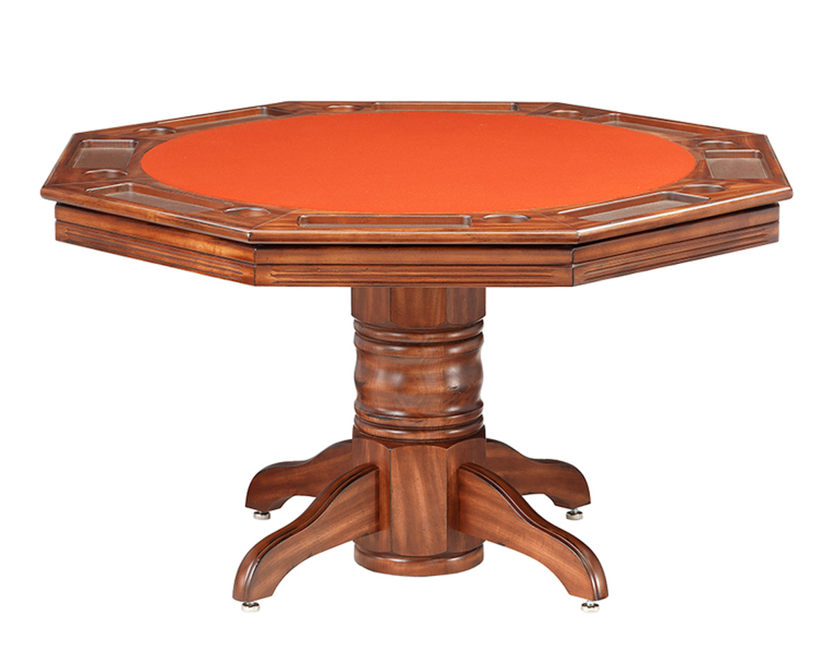 Riviera Poker Dining Table w/ Bumper Pool Game Tables