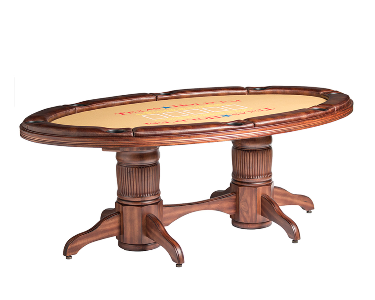 Texas Hold'em Game Table w/ Optional Dining Top Game Tables