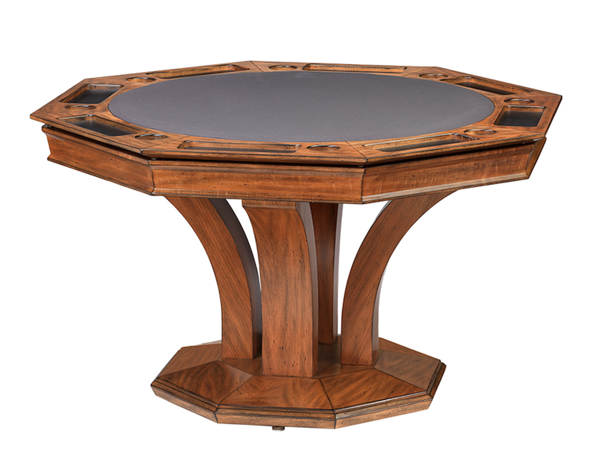 Treviso Octagonal Poker Dining Table w/ Bumper Pool Game Tables