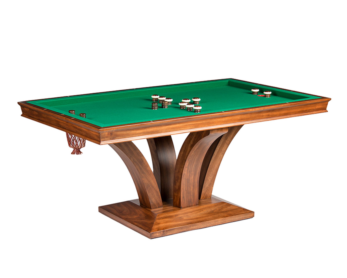 Treviso Rectangular Bumper Pool Table w/ 2 Piece Dining Top Game Tables