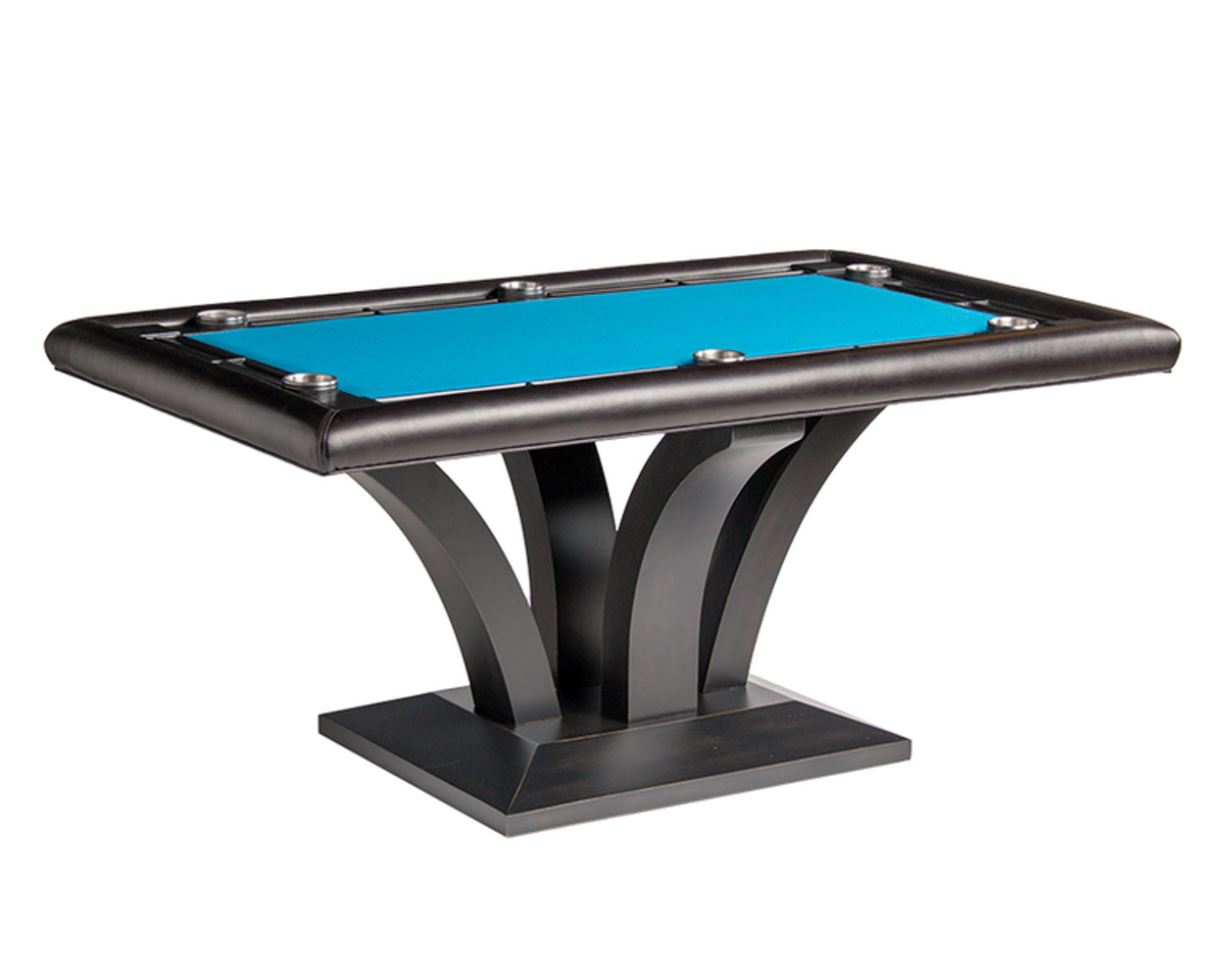 Treviso Rectangular Poker Table w/ 2 Piece Dining Top Game Tables