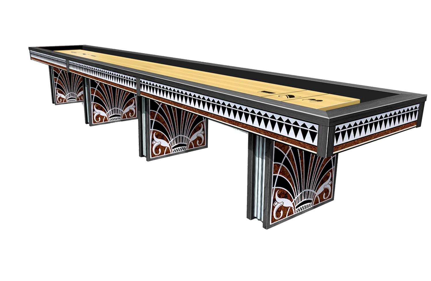 The Art Deco II Shuffleboard Table Game Room