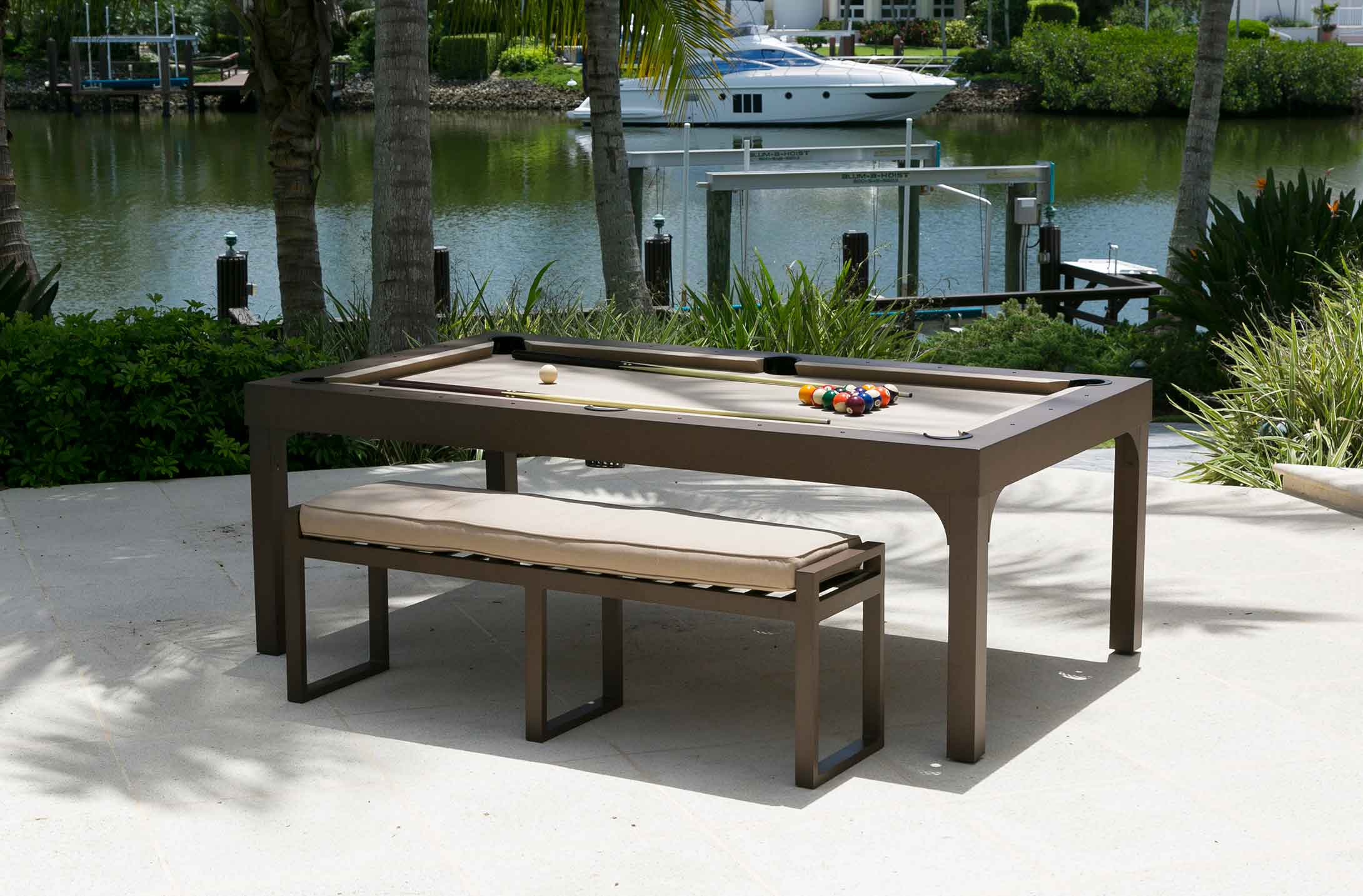 Balcony Outdoor Pool Table Outdoor Games