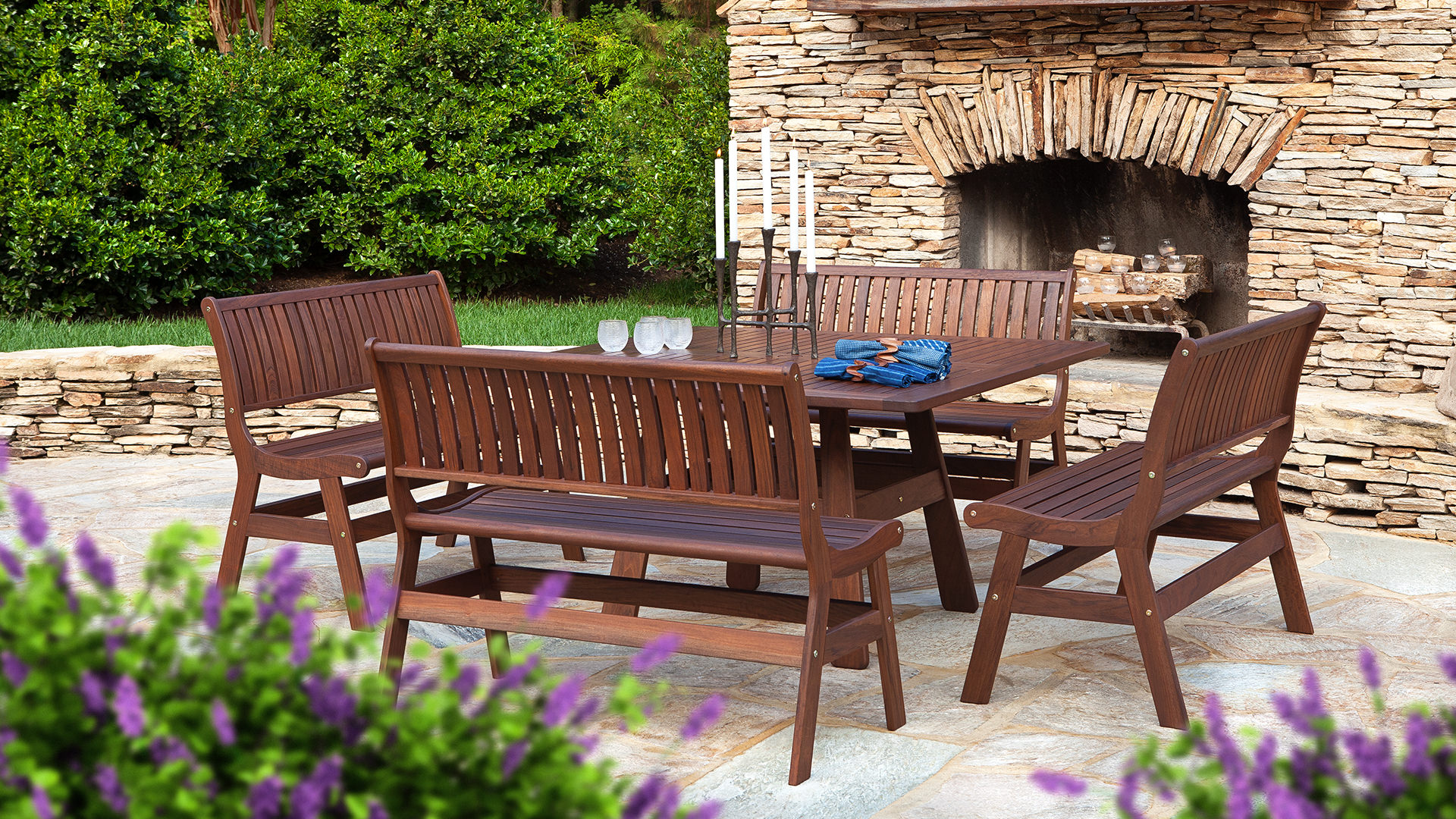 Beechworth Ipe Outdoor Dining Table Set Dining