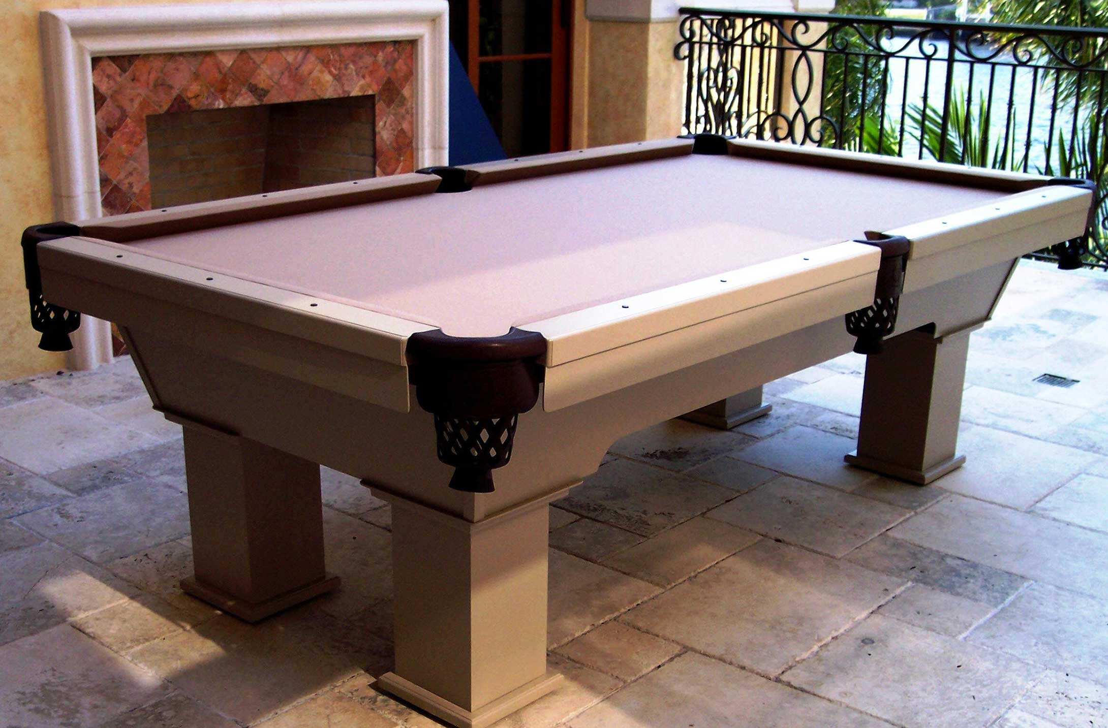 The Caesar Outdoor Pool Table Outdoor Games