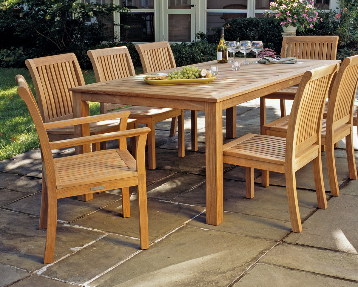 Chelsea Teak Outdoor Dining by Kingsley Bate Dining