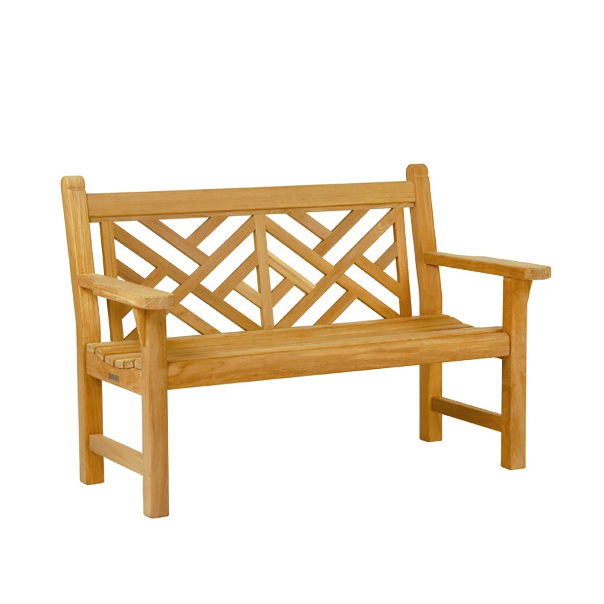 Chippendale Teak Bench Patio & Outdoor