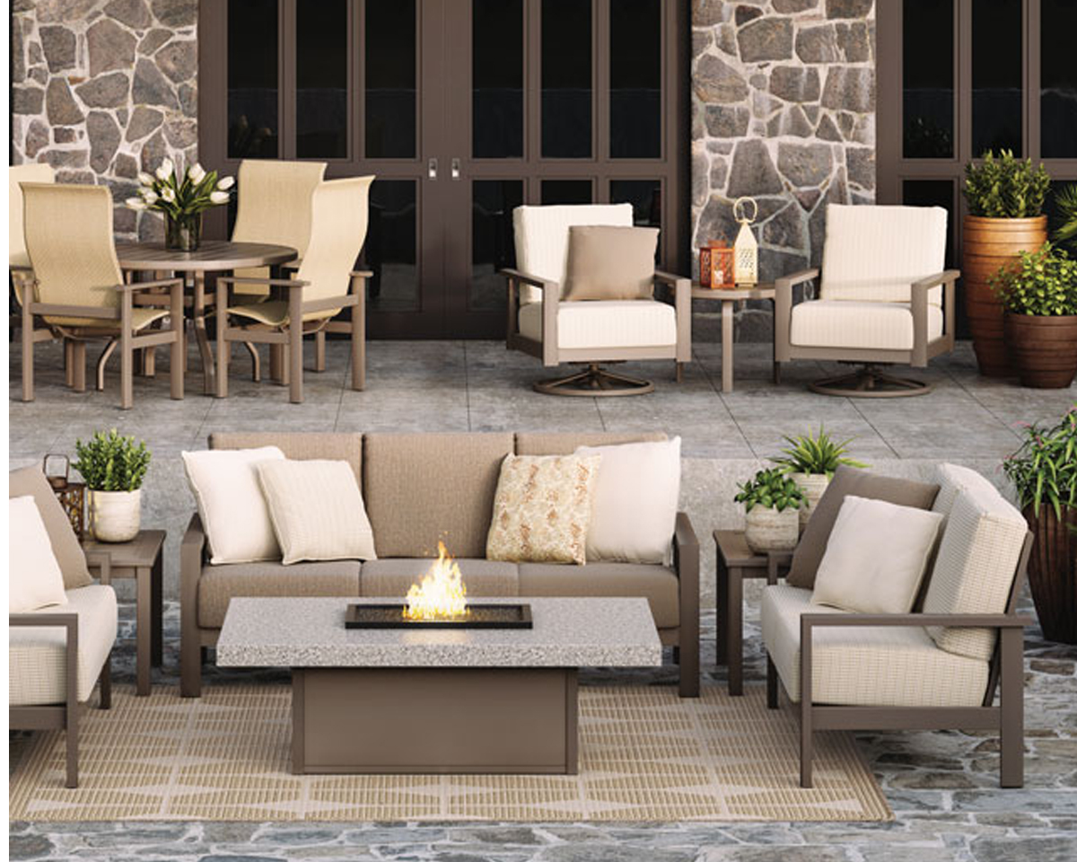 Elements Modern Outdoor Patio Collection Deep Seating