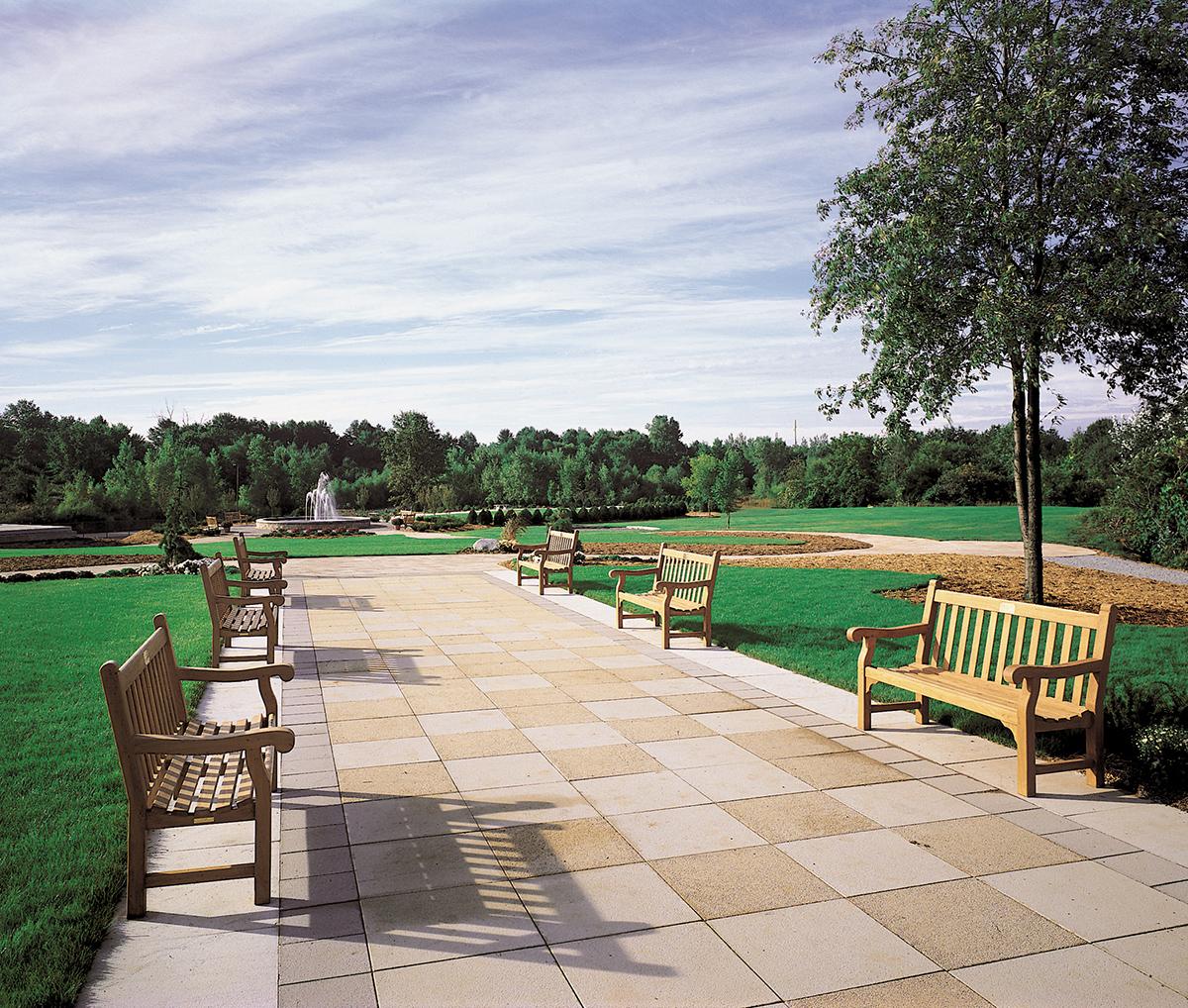 Hyde Park Teak Bench Patio & Outdoor