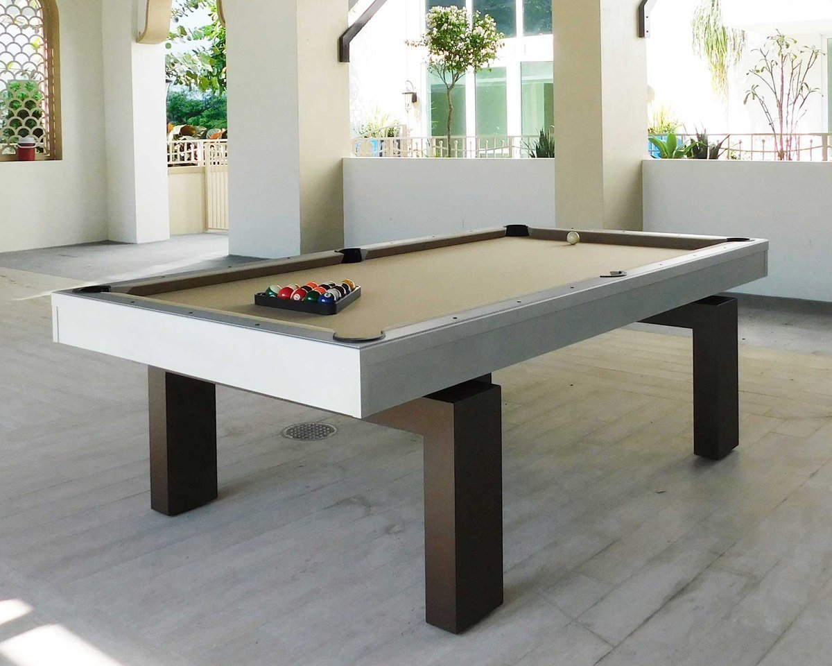 A South Beach Outdoor Pool Table Outdoor Games