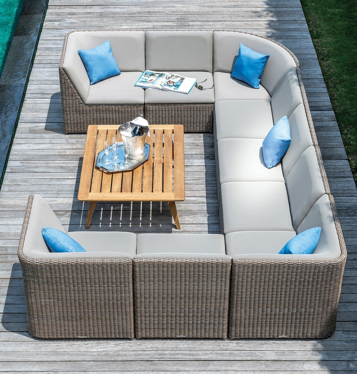 Milano Sectional Outdoor Furniture Collection Deep Seating