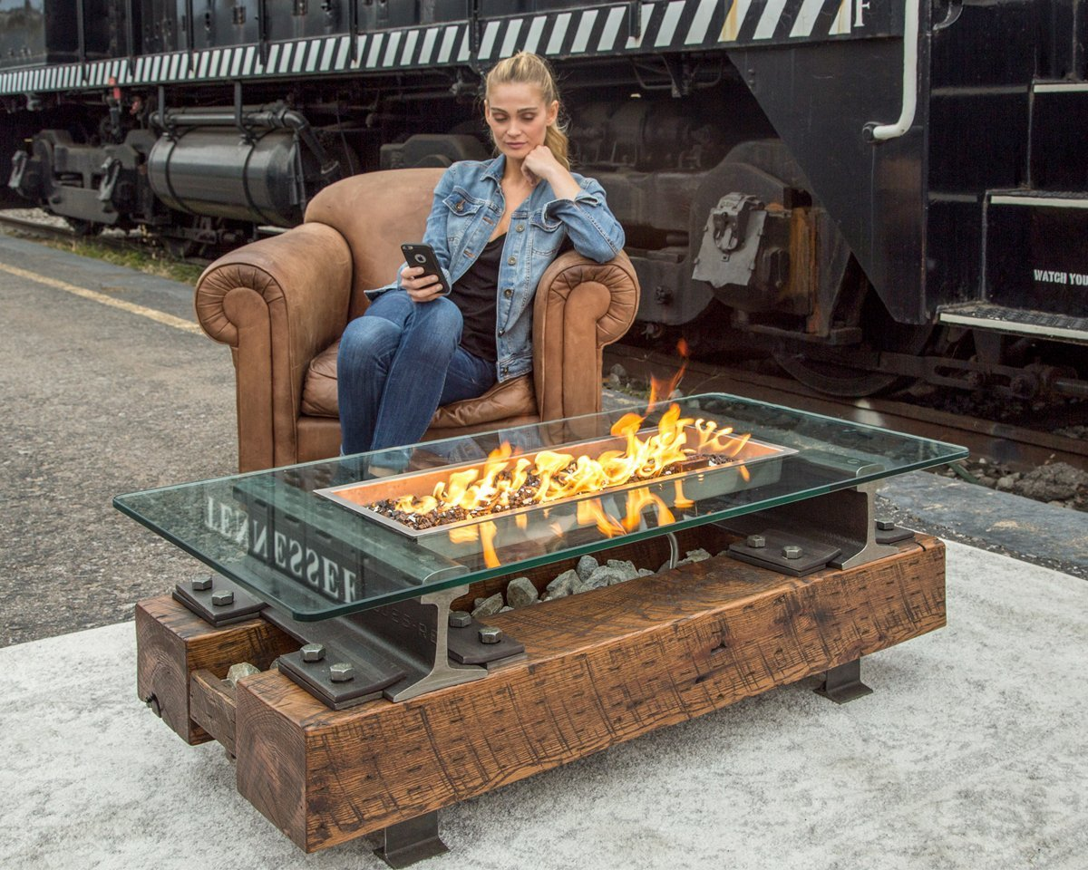 The Trackside Bluetooth Fire Pit Fire Pits